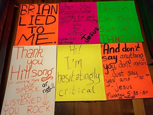 Hillsong Placards